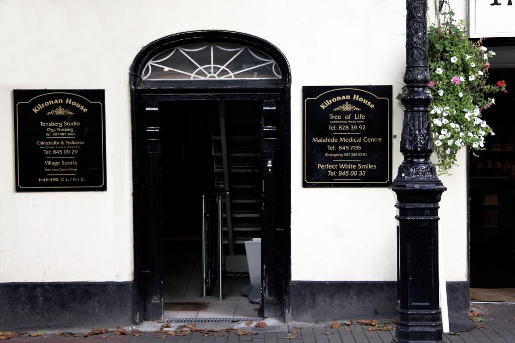 Malahide Clinic - front door